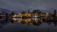 St Marys Church Hampton (Colin_Evans) Tags: moelsey night river thames reflection water hampton reflections church st marys surrey england uk