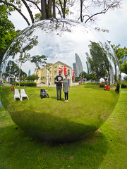 See you in the mirror (goodbyetrouble) Tags: singapore singapur sg mirror spiegel reflection park kugel spherical sphere