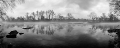 Morning fog (cpjRVA) Tags: panoprint panorama pano fog water river landscape nature leicacamera leicaq leica monochrome blackandwhite jamesriverparksystem jrps jamesriver virginia richmond va rva