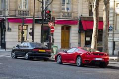 Spotting 2012 - Ferrari F430 & Renault Safrane Biturbo (Deux-Chevrons.com) Tags: ferrarif430 f430 ferrari430 430 renaultsafrane renaultsafranebiturbo renault safrane biturbo supercar sportcar exotic exotics france paris spot spotted spotting croisée rue street voiture auto automobile automotive car coche