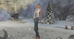 Baby it's cold outside.... (trinana.peach) Tags: labos trinanapeach trinana locations lovely marvelousmonthly model modeling models mesh designer virtualgirl virtual woman windlight womensfashion blog blogger blogs beauty beautifulplaces outside