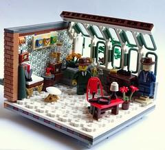 Detective's Workshop (legoalbert) Tags: lego modular interior classic furniture home house