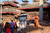 Nepal Kathmandu (andreas.reininger) Tags: nepal kathmandu monk orange pidgeon pray bricks people