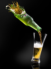 The GoldGreen (Isma Yunta) Tags: beer cerveza lager canon water liquid green gold blonde glass bottle light shadow bright perfect photoshop edition processing yellow brown heineken star red air still life stilllife