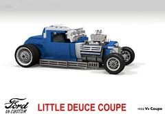 Ford 1932 Custom V8 Coupe - Beach Boys - Little Deuce Coupe (lego911) Tags: ford 1932 1930s classic v8 coupe beach boys little deuce littledeucecoupe custom kustom usa america auto car moc model miniland lego 911 ldd render cad povray lugnuts challenge 109 deuceswild deuces wild lego911 music band