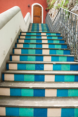 Blue Up (Scottmh) Tags: travel blue italy stairs nikon europe amalficoast steps stripe positano coastline amalfi d60 2013