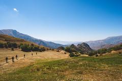 French Hikers in Armenia (Linus Wrn) Tags: mountains landscape outdoors asia hiking tourists caucasus armenia hikers hayastan vayotsdzor southcaucasus transcaucasus