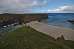 Uyea tombolo (Darkhorse Winterwolf) Tags: uk sea beach nature water landscape scotland sand unitedkingdom shetland tombolo shetlandisles zetland uyea
