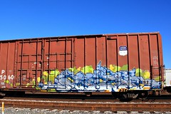 (o texano) Tags: bench graffiti texas houston trains aub freights baux benching