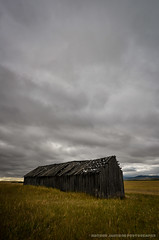 Abandoned (Witty nickname) Tags: old building abandoned grass clouds rural wooden cloudy farm alberta 1424mm nikkor1424mmf28 nikond800