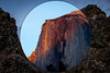 Yosemite in the Moon (Joshuaww) Tags: california blue sunset sky orange sun moon set night photoshop photography twilight rocks joshua circles el craters idaho odd yosemite dome half granite nights lichen outofplace volcanic basalt capitan photoshoppery joshuaww