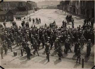 Republican prisoners captured during the attack on Passage West being marched to the Cork Gaol for detention
