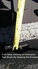 06 Vic Road Demo Work Federation Trail Geelong Rd Brooklyn 11-09-15