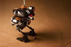 Maschinen Krieger  Krte (_Tiler) Tags: lego scout mecha mak sensor minigun krte recon mechanoid maschinenkrieger brickarms