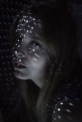 Freckles of light (ilaria.saltarella) Tags: light portrait people woman cold girl lady female mouth model eyes nikon modeling freckles lightning dots nikond610