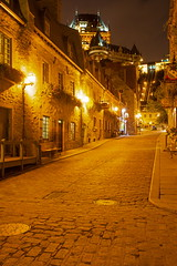 The Streets of OQC (stevenbulman44) Tags: city summer holiday canada color building stone architecture night canon exposure cityscape quebec outdoor tripod structure filter chateau gitzo timed frontenac lseries 1740f40l