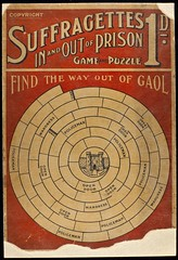 Suffragettes In and Out of Prison game, c. 1908. (LSE Library) Tags: game women hires puzzle prison jail gaol suffragette thewomenslibrary