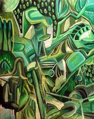 063 (Ed Mumo) Tags: abstract verde green art dark painting contemporary surrealism abstracto pintura surrealismo