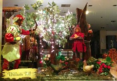 William Tell .. (Ryan Lemos) Tags: christmas light india apple decoration story bow bombay arrow mumbai windowdisplay fairytales williamtell damian bandra 2015
