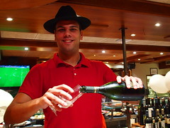 "Another ""cava"" Sir? (rgrant_97) Tags: barcelona christmas espaa bar spain gaud catalunya waiter iberia barman"