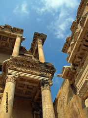 The Library of Celsus Detail (117-120 A.D.) (Christopher M Dawson) Tags: city sculpture building architecture canon turkey greek ancient ruins roman library stpaul historic unescoworldheritagesite bible dawson ephesus celsus grecoroman libraryofcelsus cmdawson 2015