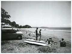 Surfing at Sandy Bay, Northland (Archives New Zealand) Tags: summer beach surf surfing archives 1967 minicooper northisland 1960s northland sunbathing sandybay archivesnewzealand nationalpublicitystudios