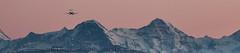Happy landing in 2016! (tom.leuzi) Tags: leica sunset panorama mountain mountains alps plane lens airplane landscape schweiz switzerland sonnenuntergang dusk jet berge landing tele bern arrival alpen peaks flugzeug takeoff berne eiger manualfocus jungfraujoch happynewyear 1960 mönch berneroberland visoflex 2016 objektiv flieger topofeurope vintagelens lorrainebrücke bernbelp canoneos6d leitzcanada280mmf48telyt