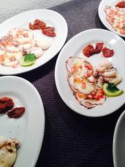 Wine & Dine mit der Casa Lusitania, Bern (ilsalotto) Tags: pulpo limetten granatäpfel tomatentartar