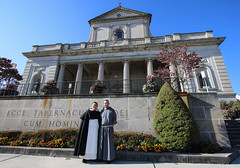 Outside the Cathedral in Altoona (Lawrence OP) Tags: cathedral altoona pennsylvania friars dominican franciscan habits religious