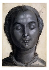 Head of a woman; turned to front, her eyes closed, with hair tied back (lluisribesmateu1969) Tags: 16thcentury portrait drer britishmuseum london