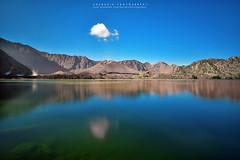 between the blues (azrudin) Tags: blue bluehour bluesky lake lakeside rinjani mountain mountrinjani crater volcano cloud azrudinphotography