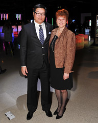 Brian Chu, Chair, Ontario Science Centre, Board of Trustees and Francine Chu (The Ontario Science Centre) Tags: 2016 rbc innovators ball