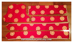 Lucky Medallion (Kurokami) Tags: toronto ontario canada lucky medallion china chinese asia asian silk brocade fabric red gold panel panels piece pieces craft crafting quilt quilting sew sewing