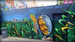 OGM ? O.M.G. (YOUGUIE) Tags: paris streetart graff graffiti djalouz caligr pesca mais ogm monsanto pesticides environnement corn tetedemort skull environment green verts ecologie protection agriculture