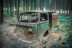 You left me, but I never left you. (MGness / urbexery.com) Tags: lost place places abandoned abandone abandones exploration decay decayed car lostcar urbex urban urbexery rockandroll black death urbanexploration rusty cargraveyard eye volkswagen vw bus transporter can dub camping dubby dubber rotten oldtimer wood forest wald nature woodstock