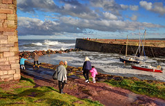 Windy day at Dunbar, Scotland (Explored) (Baz Richardson (catching up again!)) Tags: scotland dunbar coast harbours seaside stormyweather explored