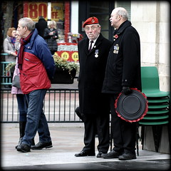 Pals (* RICHARD M (Over 5.5 million views)) Tags: street candid remembracesunday wreaths poppywreaths poppies oldsoldiers pals oldpals comrades oldcomrades beret redberet medals bemadaled beards bearded bewhiskered remembrance respect lestweforget wewillrememberthem veterans vets whiskers southport sefton merseyside exservicemen