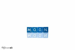 42/52 - Blue Moon (Forty-9) Tags: 4252 softbox efs1785mmf456isusm bluemoon project522016 yongnuospeedliteyn560iv 2016 photr 522016 strobist 20thoctober2016 20102016 yongnuo lightroom canon strobism studio efslens week42 eos60d thursday scrabble negative negativeimage 52 moon october flash project52 playonwords