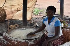 Gari processing in Benin. Photo D.Dufour/CIAT-RTB