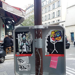 Paris (PSYCO ZRCS 10/12) Tags: sticker stickers stickerart stickerporn stickerlife stickerculture street art slaps slap tagging vinyl bombing worldwide paris france psyco nite owl eddie colla graffiti legend grilled smashed sign combo digital collab collaboration collabo tags