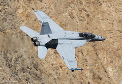 US Navy F/A-18F 166849 (birrlad) Tags: rainbow canyon death valley california usa low level flying flypast flyby aircraft aviation airplane airplanes flyover fast jet fighter attack supersonic us navy fa18f 166849 f18