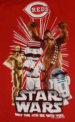 Cincinnati Reds Star Wars Graphic Tee Shirt (itstayedinvegas-4) Tags: graphicteeshirt starwars cincinnatireds chewbacca r2d2 c3po mlb baseball