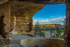 Cliff Dwelling With a View (Harry2010) Tags: mesaverde colorado balconyhouse cliffdwelling kiva view sunset ruins