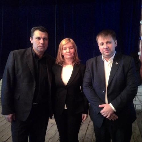 С музыкантом Анатолием Корж и  заместителем председателя городской Думы города Геленджик Татьяны Рой!