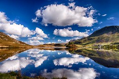 Still waters (bainebiker) Tags: cregennanlakes walesclouds reflections mountain landscape sky scenery canonef24mmf14liiusm hdr arthog gwyned walesuk