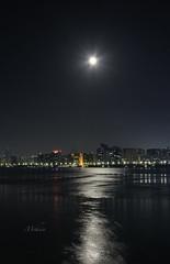 Supermoon (Syed Mohsin Khadri) Tags: supertelephoto moon bluemoon moonlight nightphotography nightscape nikond7100 slowshutter abudhabi abudhabicorniche corniche nikkor18105mm nikkorkitlens amazing astrophotography
