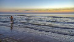 Bygone Days of Summer (dorrisd) Tags: kids children zonsondergang strand kust noordzee northsea katwijk surf waves coastal beaches zuidholland southholland netherlands nederland mieneke andeweg dorrisd play spade childhood youth young