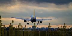 Brussels airport Zaventem (Sas & Rikske) Tags: brussels airport zaventem luchthaven ericbruyninckx riksketervuren canon 7d 100400 sunset plane planes colors zon bruxelles landing spotter spotting