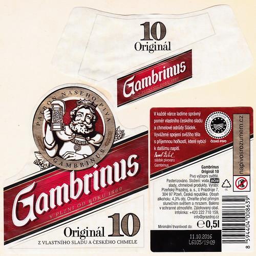 Gambrinus 10°, Pilsen 2016