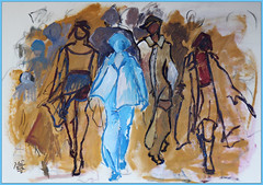 study (Jocawe) Tags: canoneos60d 1755mm dpp availablelight painting acryl paperboard fashion study models
